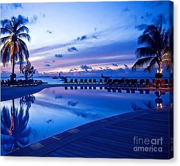 Maldivian Sunrise Canvas Print by Chris Smith
