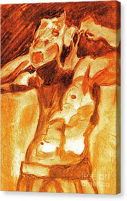 Male Boxer Canvas Print by Kim Wilcox