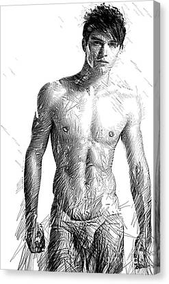 Male Model Canvas Print by Rafael Salazar