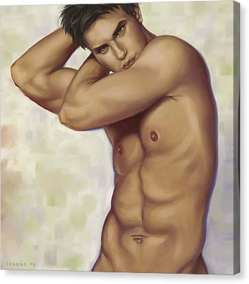 Male Nude 1 Canvas Print by Simon Sturge