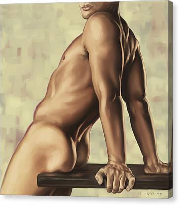 Male Nude 2 Canvas Print by Simon Sturge