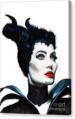 Maleficent - Angelina Jolie Canvas Print by Prarthana Kulasekara