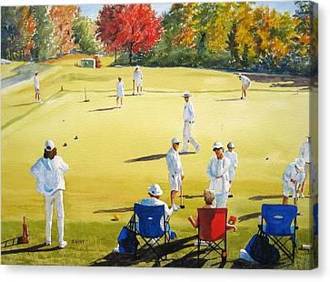 Mallet Masters Canvas Print by Shirley Braithwaite Hunt