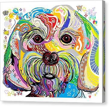 Maltese Puppy Canvas Print by Eloise Schneider