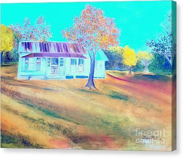 Mamas House In Arkansas Canvas Print by Jo Anna McGinnis