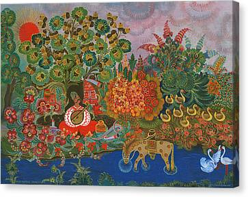 Mamay Cossack  Canvas Print by Olena Kulyk