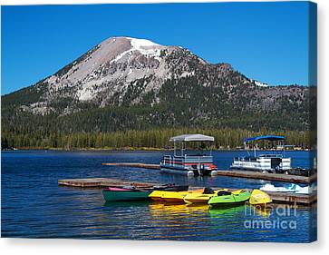 Mammoth Mountain California At Lake Mary Canvas Print by ELITE IMAGE photography By Chad McDermott
