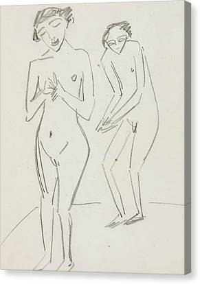 Man And Woman Canvas Print by Ernst Ludwig Kirchner