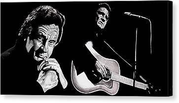 Man In Black Canvas Print by Al  Molina