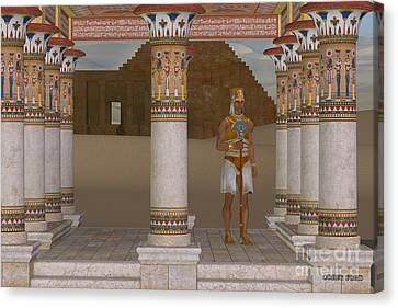 Man In Egyptian Clothes Canvas Print by Corey Ford