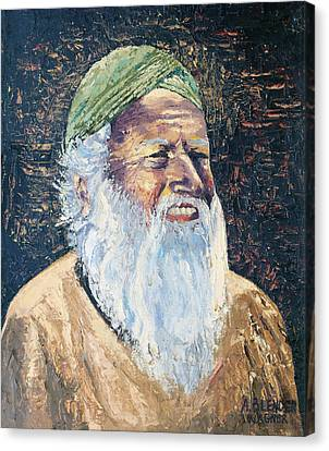 Man In The Green Turban Canvas Print by Arline Wagner