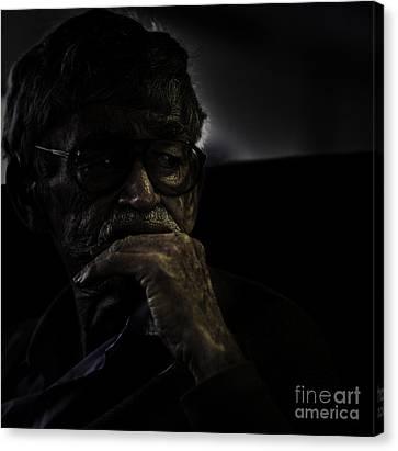 Man On Ferry Canvas Print by Avalon Fine Art Photography