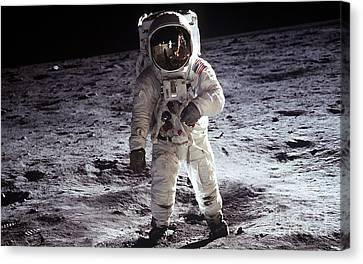 Man On The Moon 11 Canvas Print by Jon Neidert