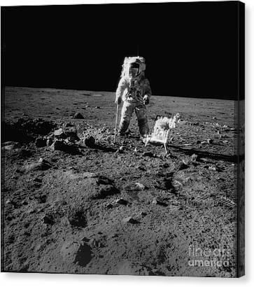 Man On The Moon Canvas Print by Jon Neidert