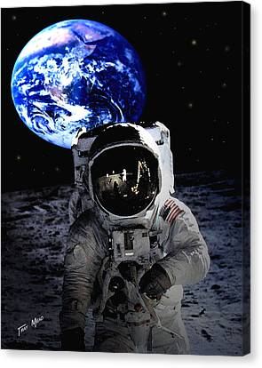Man On The Moon Canvas Print by Tray Mead