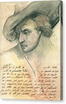 Man Study Canvas Print by Juan Bosco