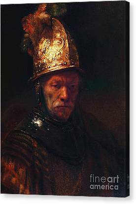 Man With The Golden Helmet Canvas Print by Pg Reproductions