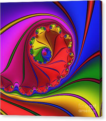 Mandala 156 Canvas Print by Rolf Bertram