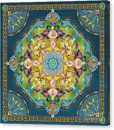 Mandala Arabesque Canvas Print by Bedros Awak