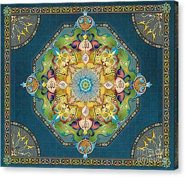 Mandala Arabesque Sp Canvas Print by Bedros Awak