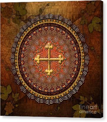 Mandala Armenian Cross Canvas Print by Bedros Awak