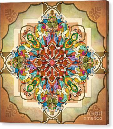 Mandala Birds Canvas Print by Bedros Awak