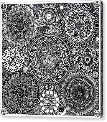 Mandala Bouquet Canvas Print by Matthew Ridgway