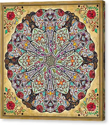 Mandala Elephants Canvas Print by Bedros Awak