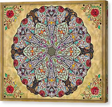 Mandala Elephants Sp Canvas Print by Bedros Awak