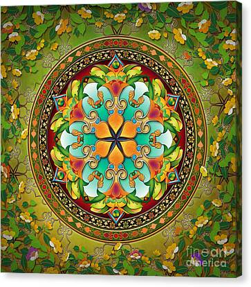 Mandala Evergreen Canvas Print by Bedros Awak