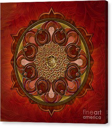 Mandala Flames Canvas Print by Bedros Awak
