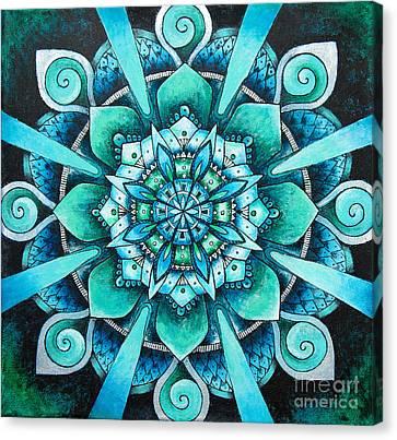 Mandala Of Depth Canvas Print by Home Art