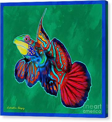 Mandarin Fish Canvas Print by Sergey Lukashin