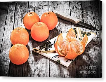 Mandarin Oranges Canvas Print by Ezeepics