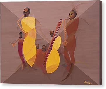 Mango Jazz Canvas Print by Kaaria Mucherera