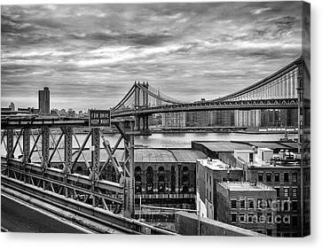 Manhattan Bridge Canvas Print by John Farnan