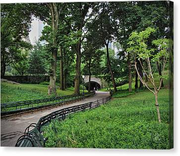 Manhattan - Central Park 001 Canvas Print by Lance Vaughn