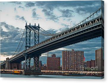 Manhattan Classic Canvas Print by Az Jackson