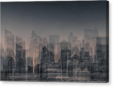 Manhattan Moves Canvas Print by Az Jackson