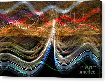 Manhattan Pulse Canvas Print by Az Jackson
