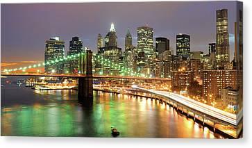 Manhattan Skyline Canvas Print by Sean Pavone