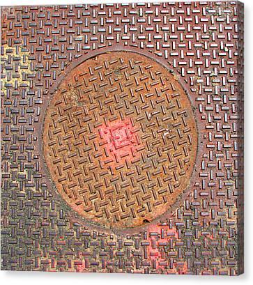 Manhole Mandala Canvas Print by Ben Freeman