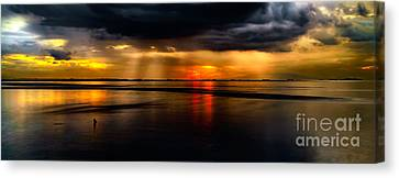 Manila Bay Sunset Canvas Print by Adrian Evans