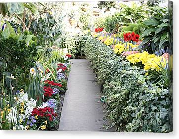 Manito Park Conservatory Canvas Print by Carol Groenen