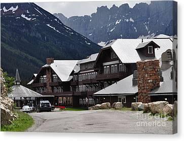 Many Glacier Lodge Canvas Print by Diana Nigon