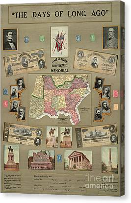 Map: Confederate States Canvas Print by Granger