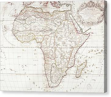 Map Of Africa Canvas Print by Fototeca Storica Nazionale