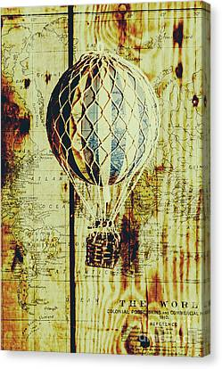 Mapping A Hot Air Balloon Canvas Print by Jorgo Photography - Wall Art Gallery