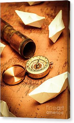 Maps And Bearings Canvas Print by Jorgo Photography - Wall Art Gallery