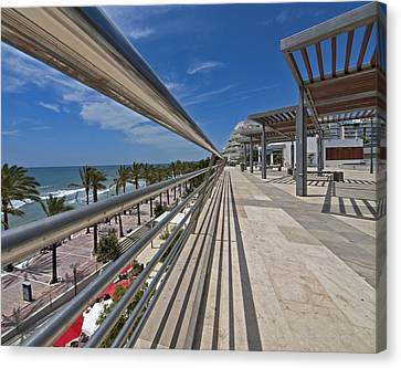 Marbella Seafront 1 Canvas Print by Kenton Smith